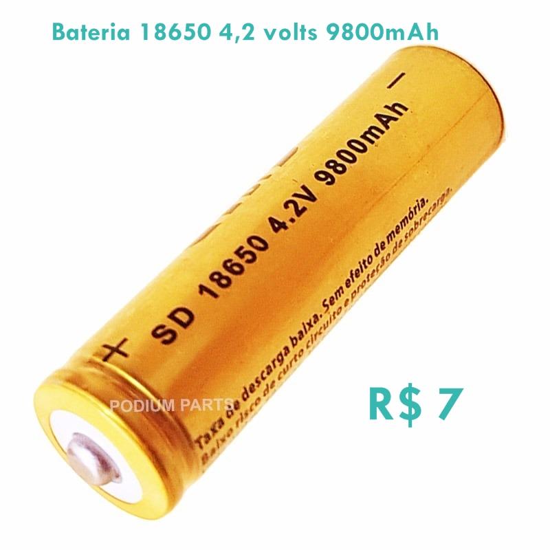 Baterias 18650, 9800Mah 4 2 Volts de Lion Recarregável